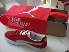 Puma's new shoe packaging
