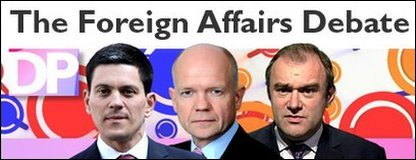 Foreign Affairs line-up