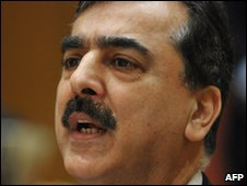 Pakistani Prime Minister Yousuf Raza Gilani pictured in Washington, April 2010