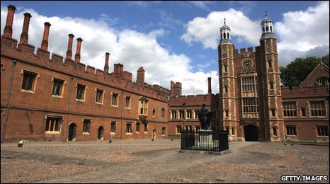 The historic courtyard at Eton College