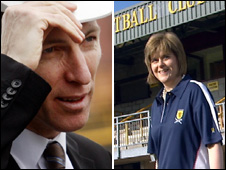 Jim Murphy and Nicola Sturgeon composit