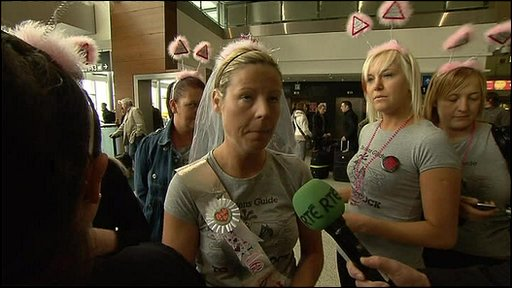 Stranded passengers at Dublin Airport
