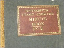 Titanic committe minute book