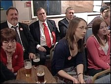 John Prescott watching the prime ministerial debate