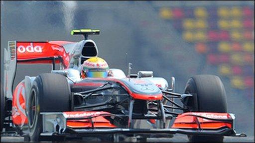 Lewis Hamilton's McLaren