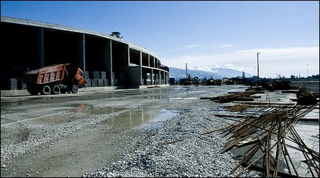 Olympic stadium under construction at Sochi