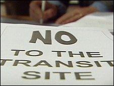 Transit site campaigners