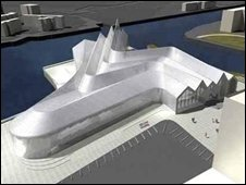 Artists impression of the new Riverside Museum