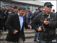 Kurmanbek Bakiyev's bodyguards in Osh (15 April 2010)