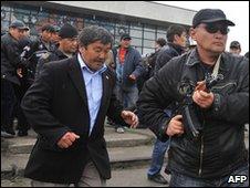 Kurmanbek Bakiyev's bodyguards in Osh (15 April 2010)