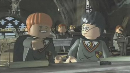 Harry Potter and Ron Weasley as they appear in the game