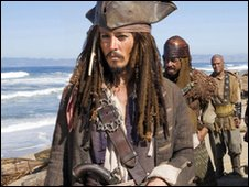 Johnny Depp in Pirates of the Caribbean: At World's End
