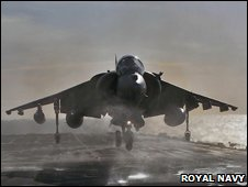 Harrier GR9 on HMS Ark Royal. Image: Royal Navy
