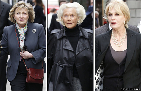 Hannah Gordon, Honor Blackman and Joanna Lumley
