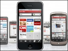 iPhone, Opera Mini browser