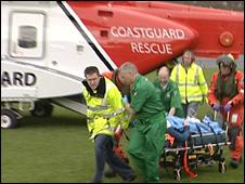 Shetland Coastguard rescue helicopter