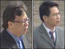 Man Kung Wong (left) and Qing Wu