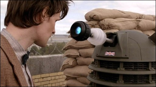 Matt Smith's Doctor comes face to face with a Dalek