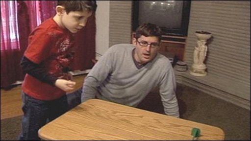 Sixyear-old Jack and Louis Theroux