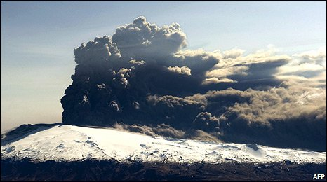 eruption of the Eyjafjallajokull volcano in southern Iceland