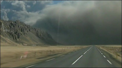 Driving into the ash cloud