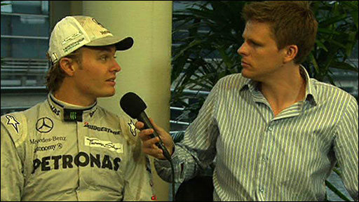 Nico Rosberg talks to Jake Humphrey