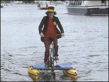 Floating bike