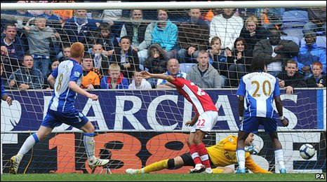 Ben Watson scores for Wigan