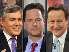 brown clegg cameron