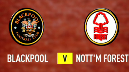 Blackpool 3-1 Nottm Forest