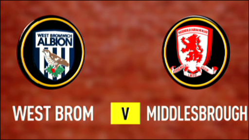West Brom 2-0 Middlesbrough