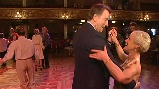 Peter Mandelson ballroom dancing with partner