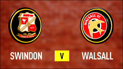 Swindon 1-1 Walsall