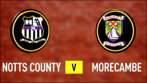 Notts County 4-1 Morecambe