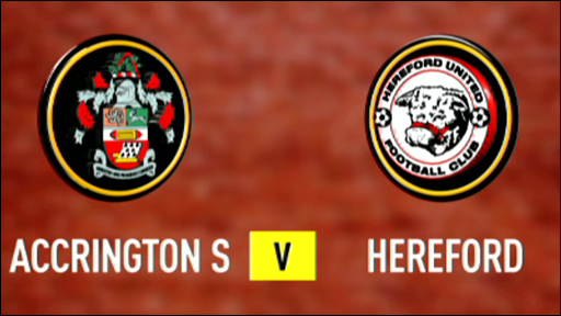 Accrington 1-2 Hereford