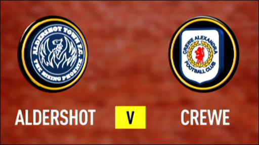 Aldershot 1-1 Crewe