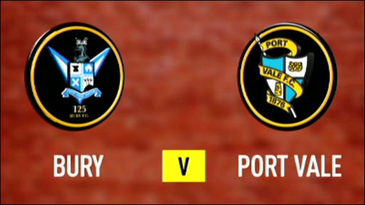 Bury 1-1 Port Vale