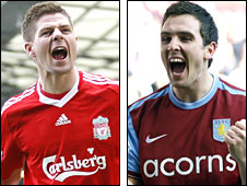 Steven Gerrard and Stewart Downing