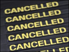 cancelled departure board