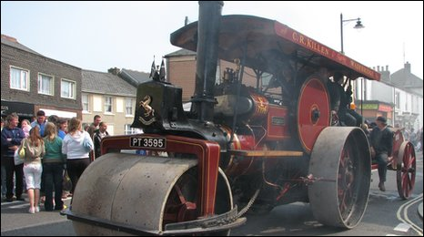 The steam parade on Trevithick Day