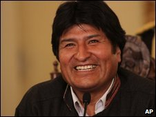 Bolivian President Evo Morales - file photo