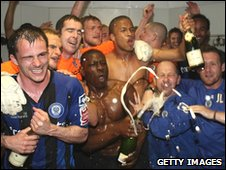 Rochdale players in the dressing room