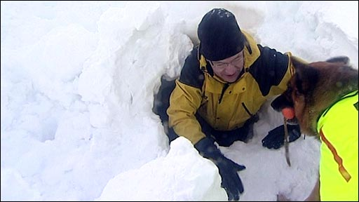 Mountain rescue team in the Cairngorms