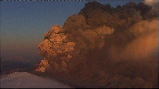 The Eyjafjallajoekull volcano