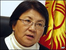 Kyrgyzstan interim leader Roza Otunbayeva in Bishkek (13 April 2010)
