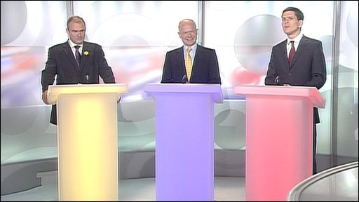 Davey, Hague and Miliband
