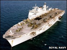 HMS Ocean. Pic: Royal Navy