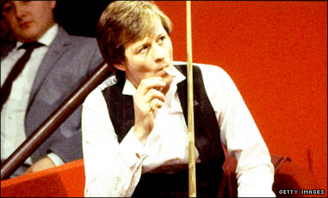 Former snooker world champion Alex Higgins