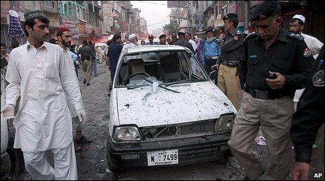 Attack in Peshawar 19.04.10