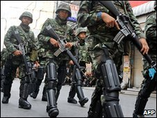 Thai troops in Bangkok, Thailand (20 April 2010)